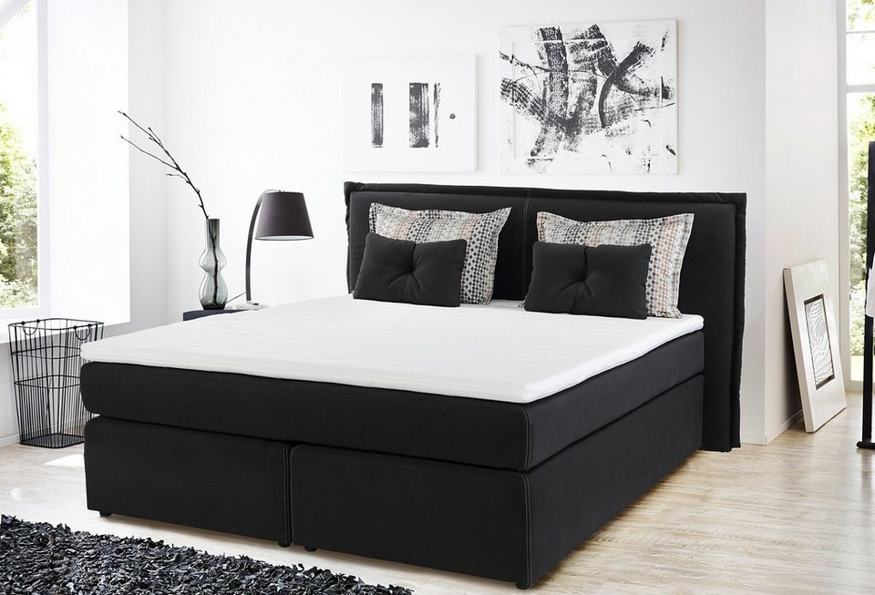 Boxspringbett  Boxspringbett inkl. Topper, Home affaire, »Ascoli« | OTTO