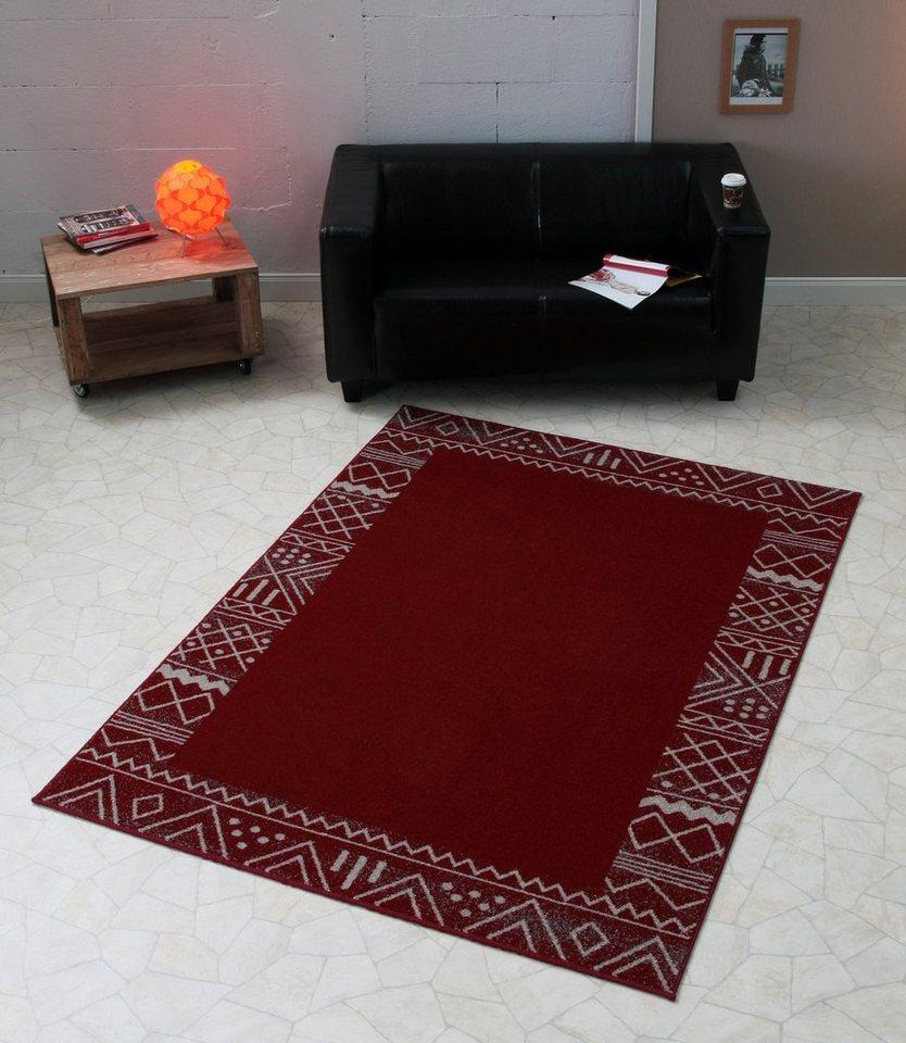 Design-Teppich, Hanse Home, »Aztec«, modern, trend, graphisch gemustert in Rot