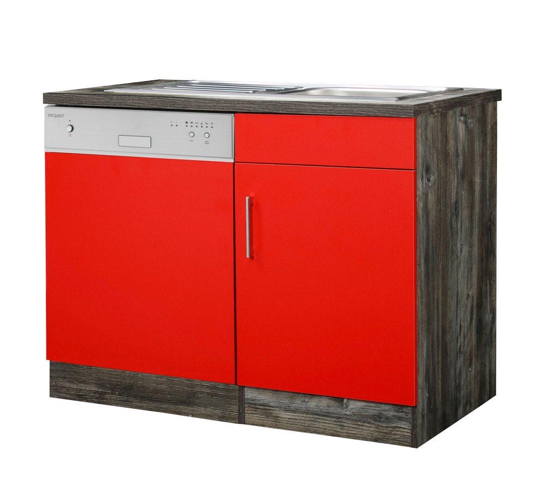 HELD MÖBEL Spülenschrank »Sevilla, Breite 110 cm« | Küche und Esszimmer > Küchenschränke > Spülenschränke | Rot | Spanplatte | HELD MÖBEL