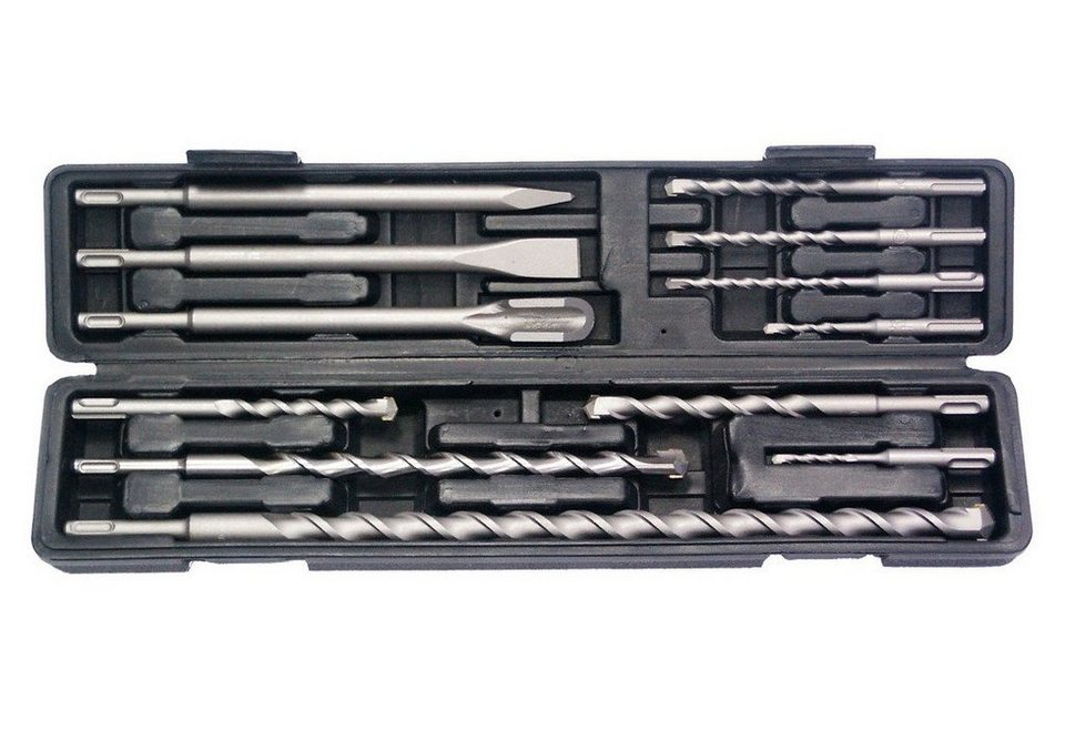 SDS-Plus-Hammerbohrer- und Meißelsatz »9158-12«, 12-tlg. in grau
