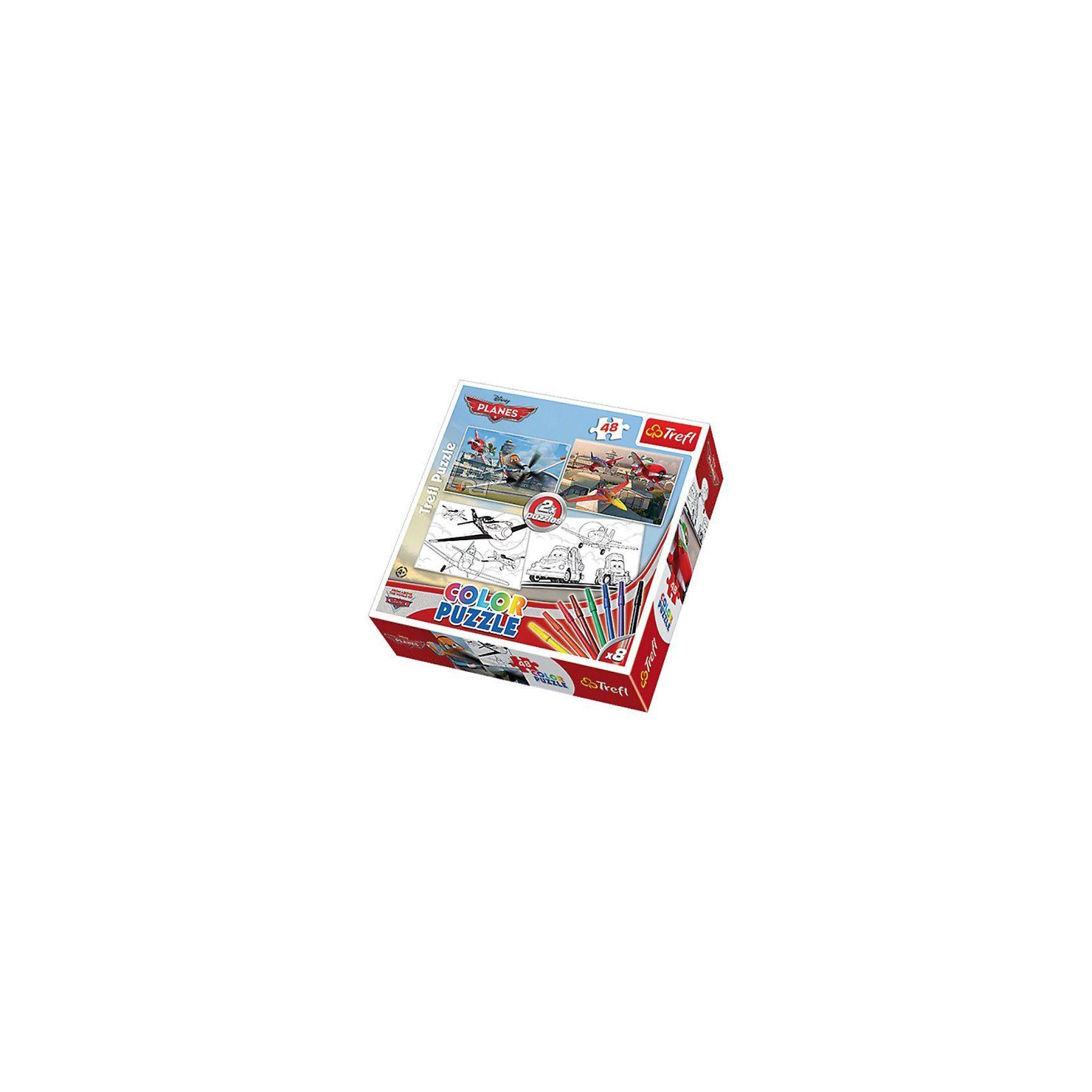 Trefl Color Puzzle 2 x 48 Teile - Planes