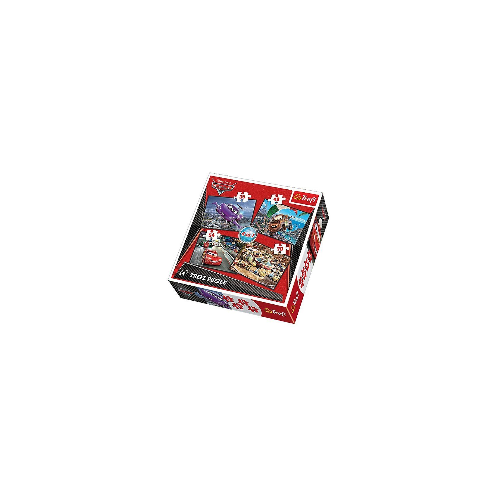 Trefl Puzzle-Set 4in1 - 35/48/54/70 Teile - Cars