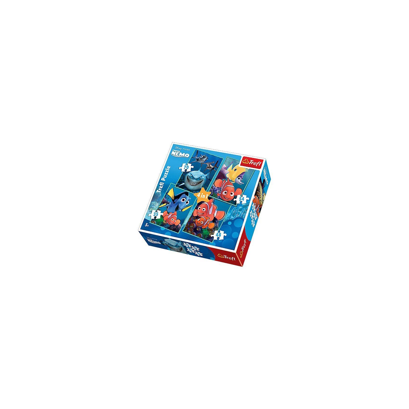 Trefl Puzzle 4in1 - 35/48/54/70 Teile - Findet Nemo
