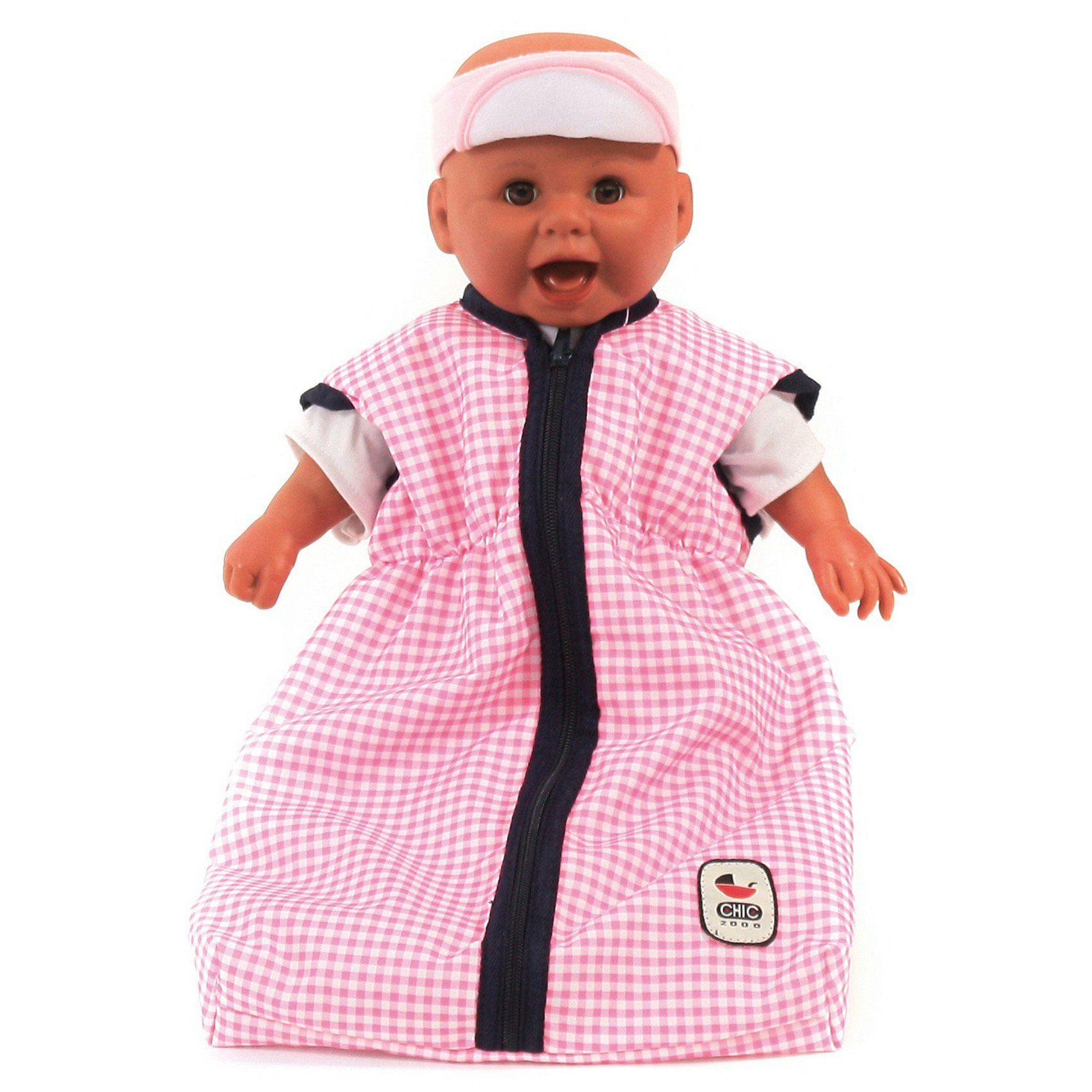 CHIC 2000 Puppen-Schlafsack Karo rosa