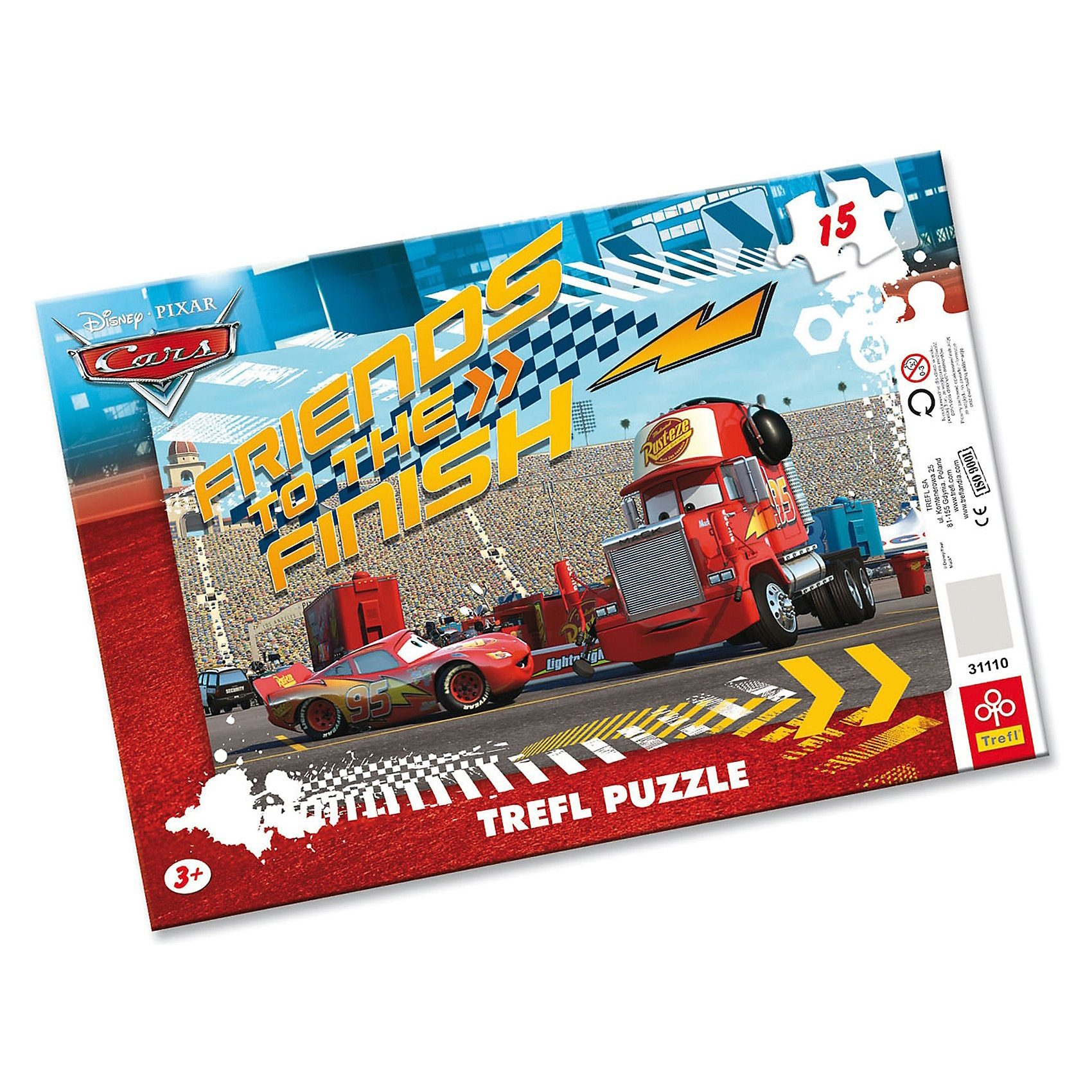 Trefl Rahmenpuzzle 15 Teile - Cars: Lightning and Mack
