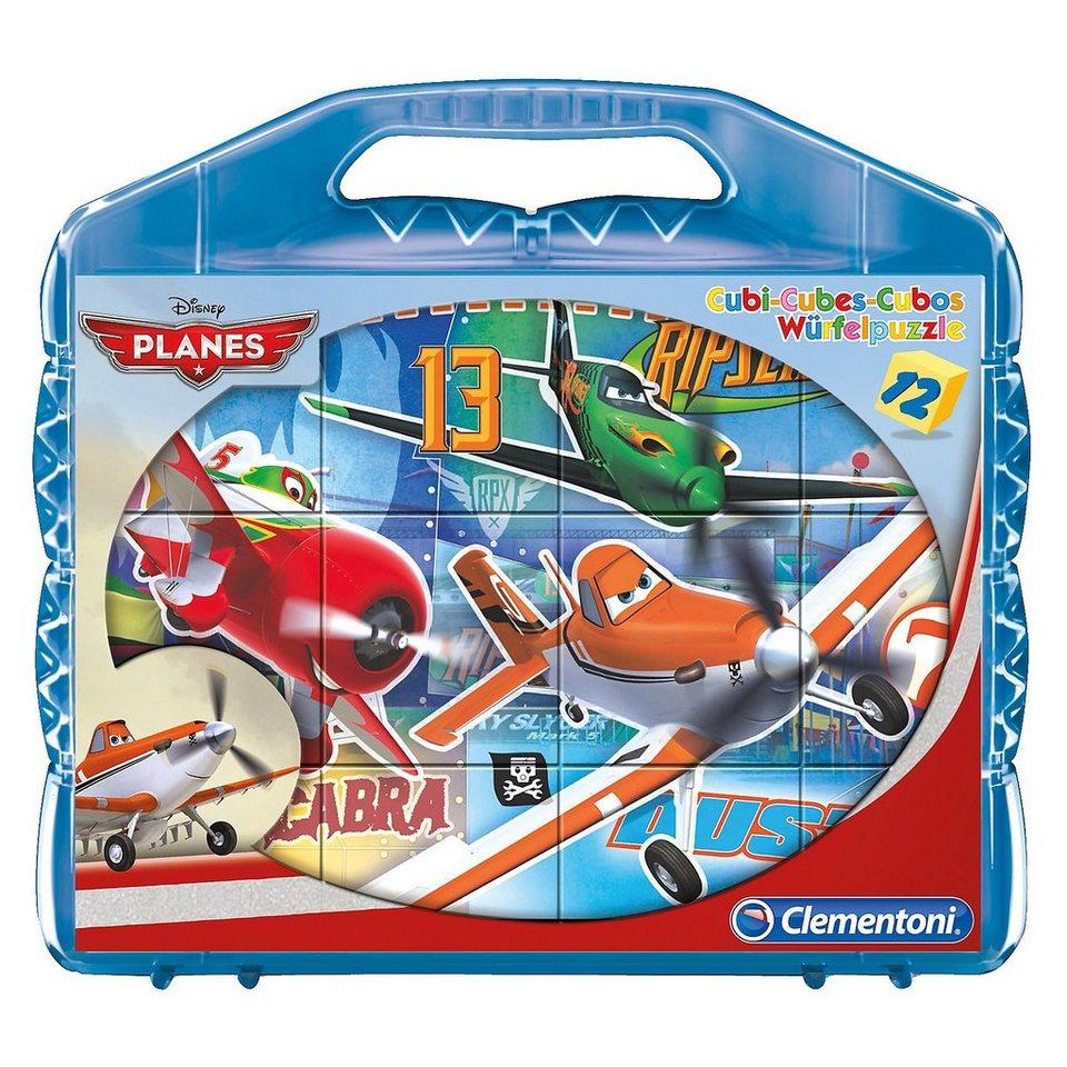Clementoni Würfelpuzzle 12 Teile - Planes