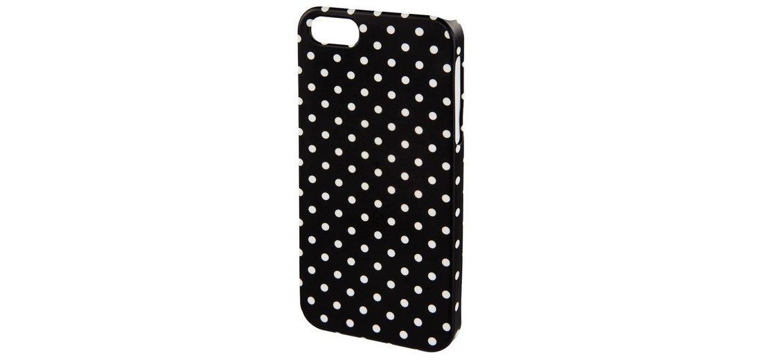 Hama Cover Polka Dots für Apple iPhone 6/6s, Schwarz/Weiß
