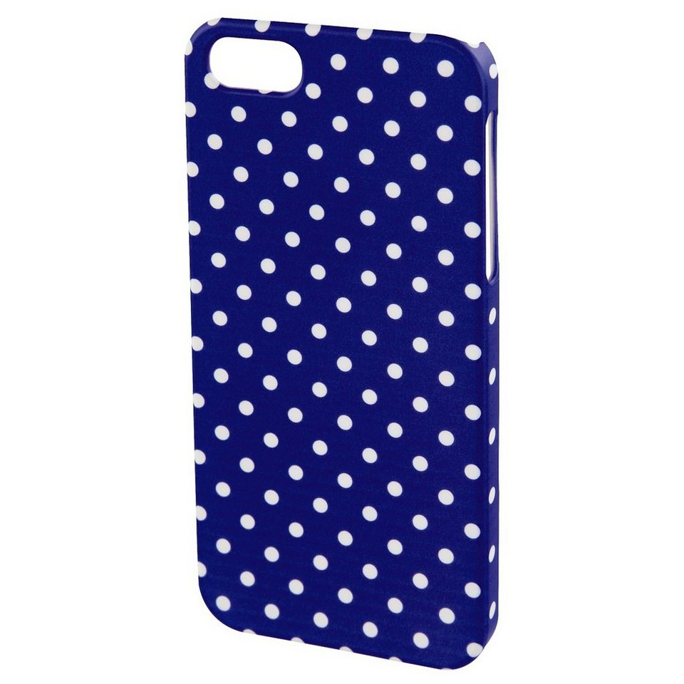 Hama Cover Polka Dots für Apple iPhone 5/5s/SE, Blau/Weiß in Blau