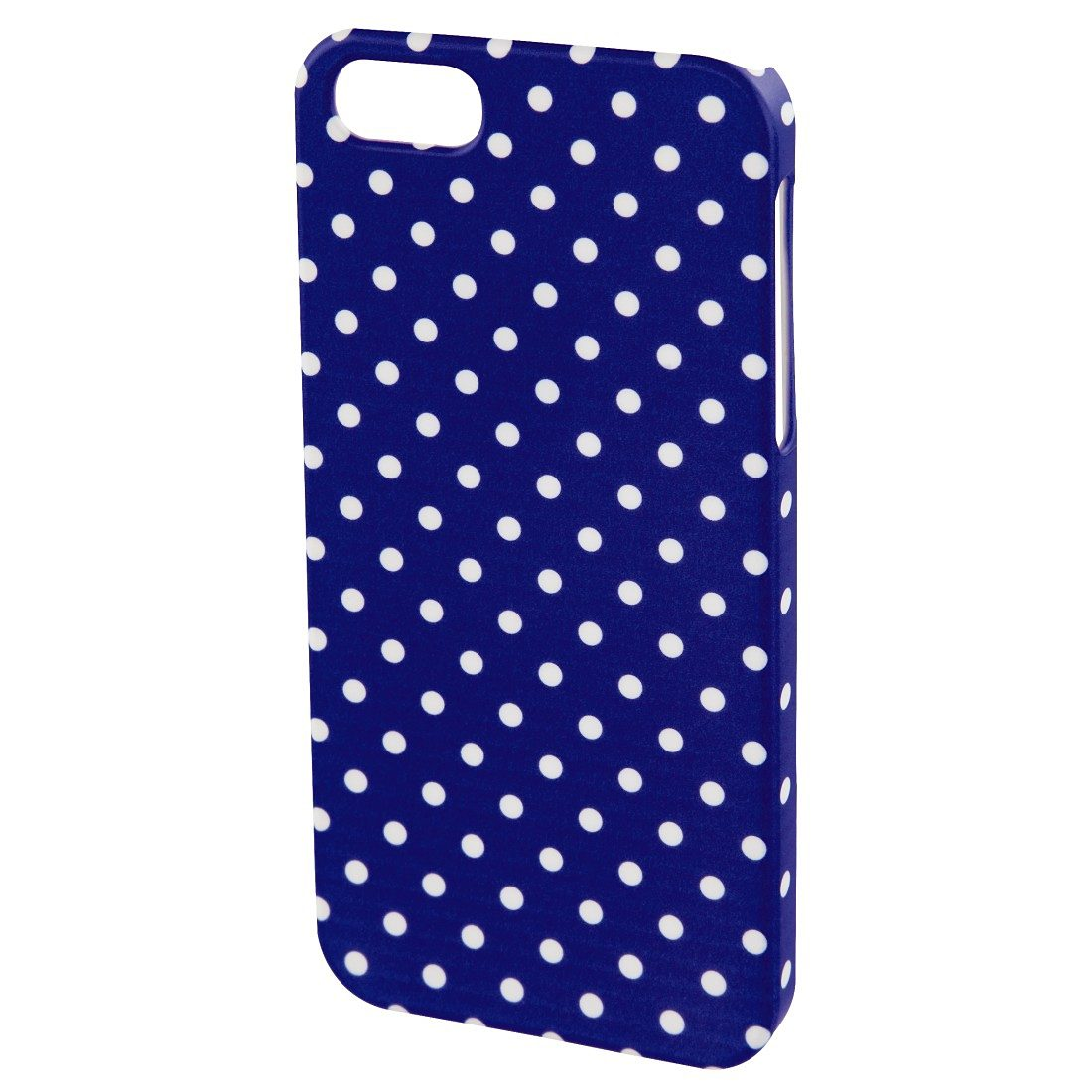 Hama Cover Polka Dots für Apple iPhone 5/5s/SE, Blau/Weiß