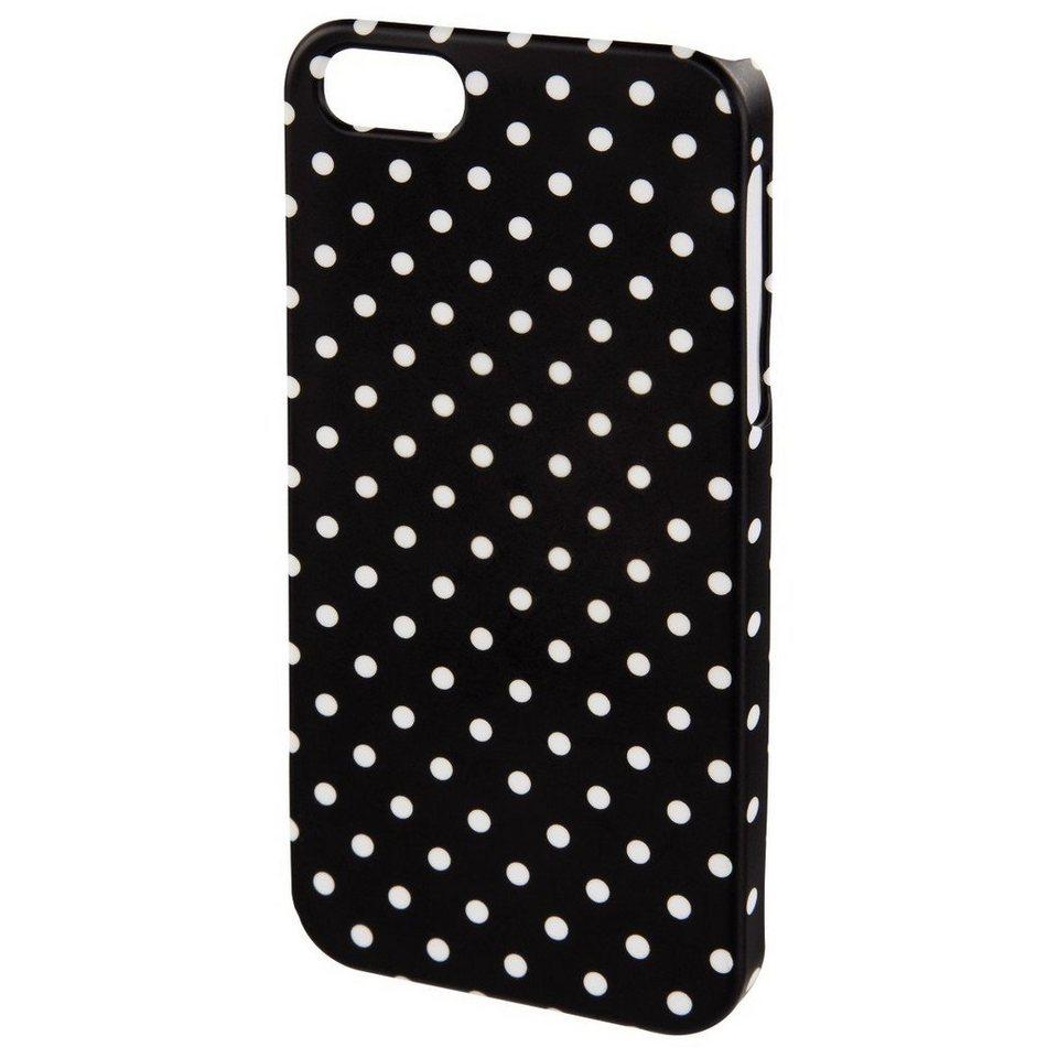 Hama Cover Polka Dots für Apple iPhone 4S, Schwarz/Weiß in Schwarz