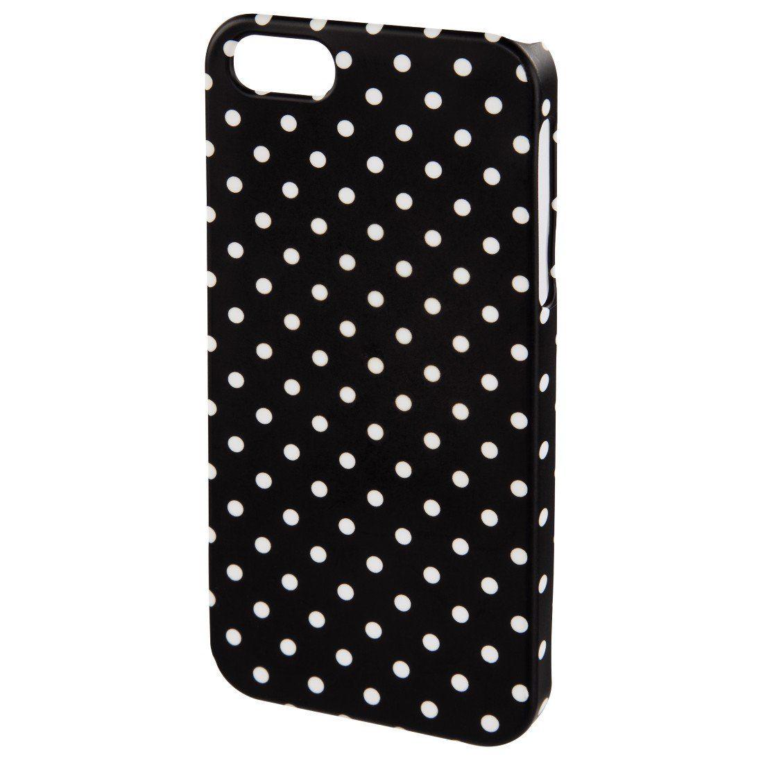 Hama Cover Polka Dots für Apple iPhone 4S, Schwarz/Weiß
