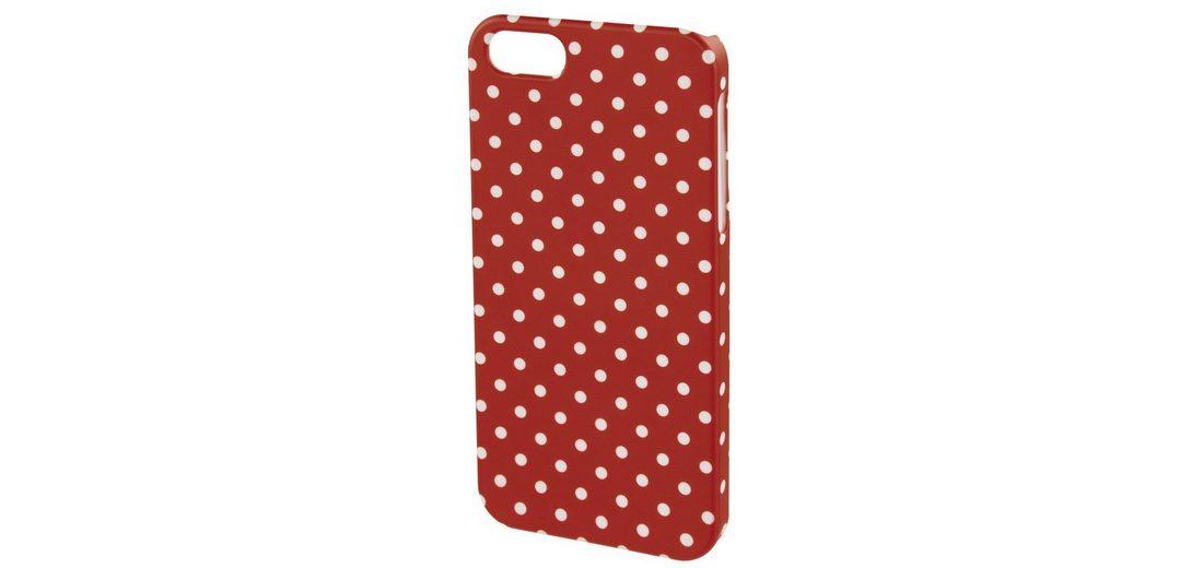 Hama Cover Polka Dots für Apple iPhone 4S, Rot/Weiß