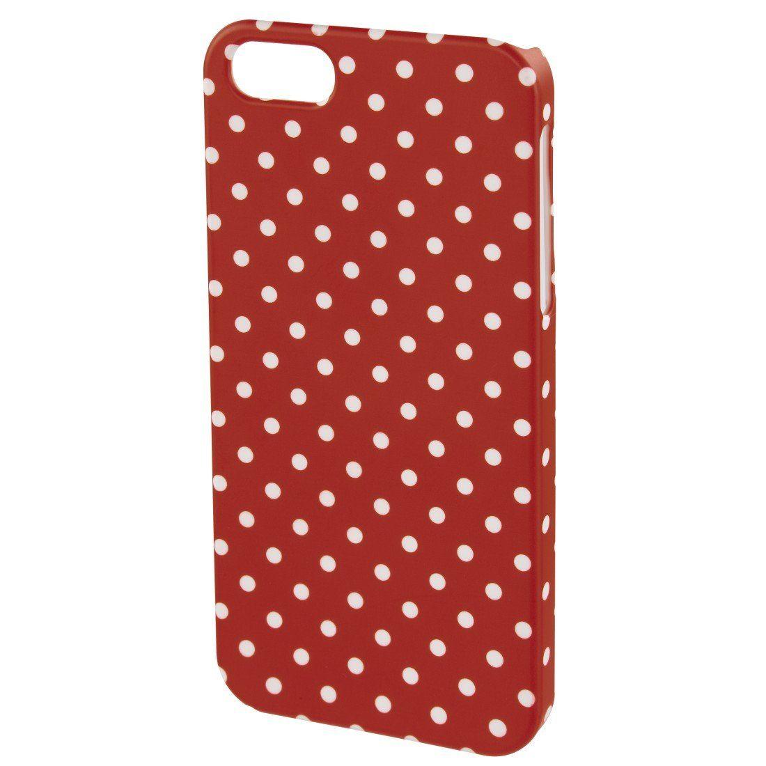 Hama Cover Polka Dots für Apple iPhone 6/6s, Rot/Weiß