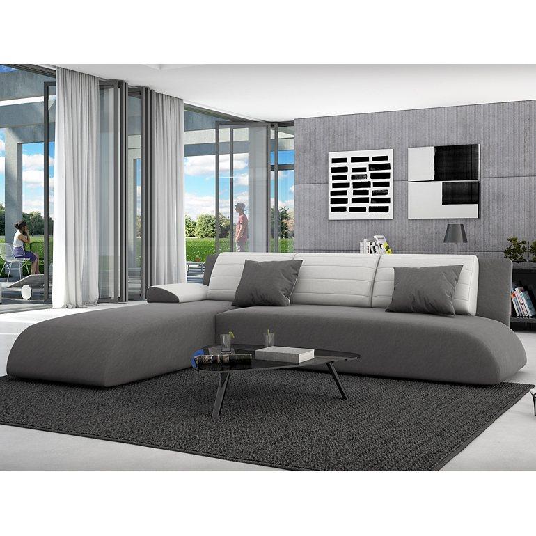 innocent ecksofa mit schlaffunktion aus textil grau r ckenlehne wei es ku movia online kaufen. Black Bedroom Furniture Sets. Home Design Ideas