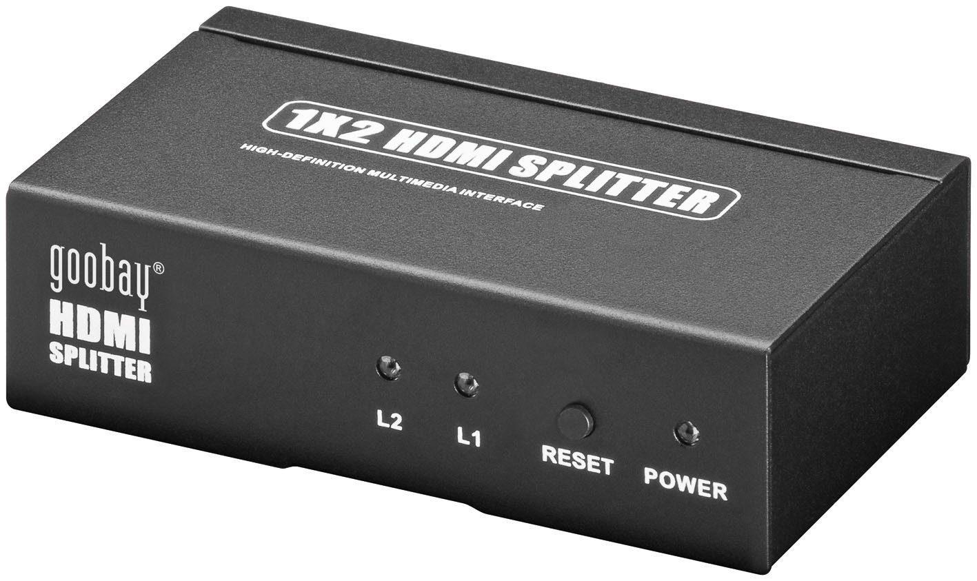 goobay HDMI Splitter 1 x 2 »Übertragung eines HDMI Signals auf 2 TVs«