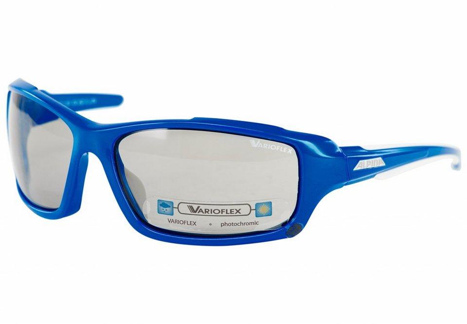 Alpina Radsportbrille »Callum VL Brille blue-white/black« in blau