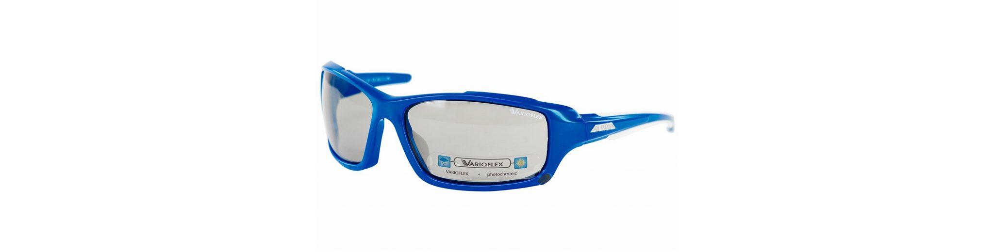 Alpina Radsportbrille »Callum VL Brille blue-white/black«
