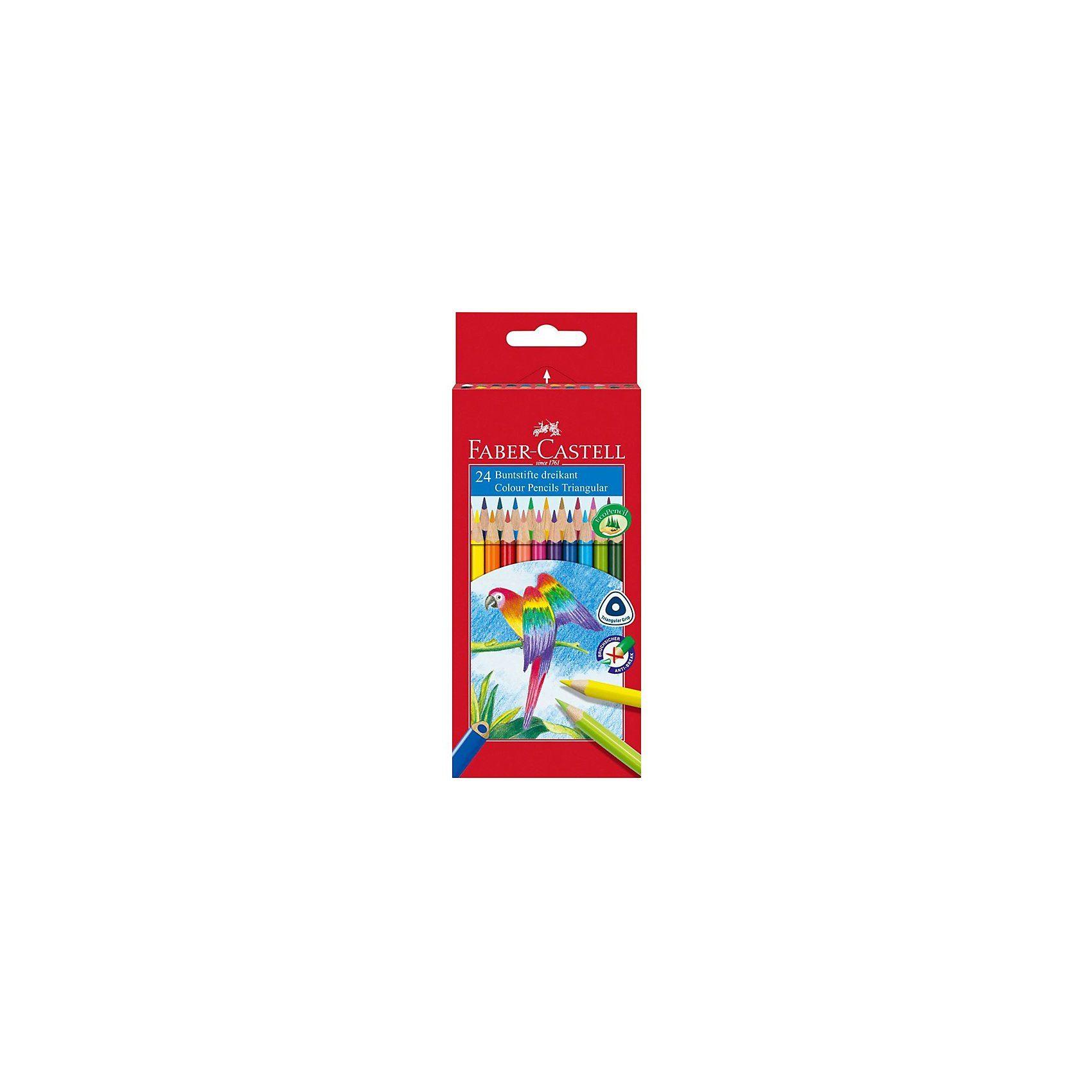 Faber-Castell TRIANGULAR Buntstifte, 24 Farben