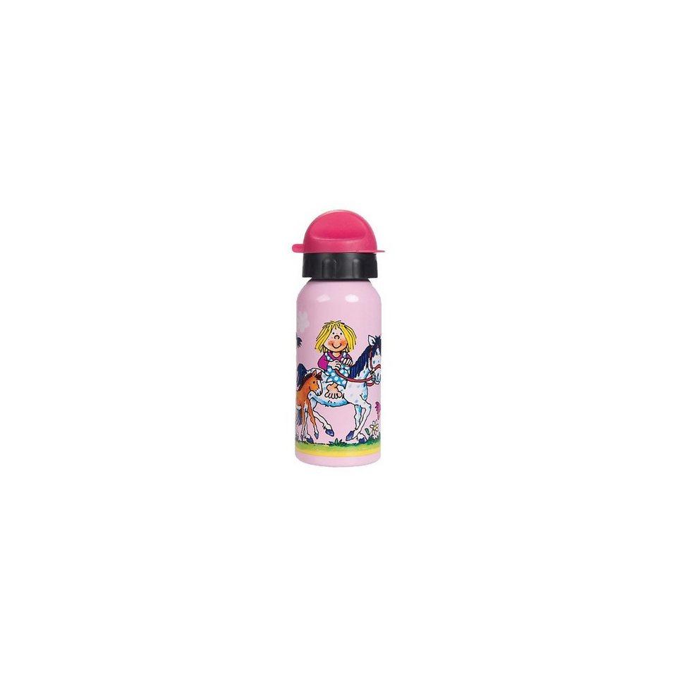 Lutz Mauder Verlag Trinkflasche Lotte reitet, 400 ml in rosa