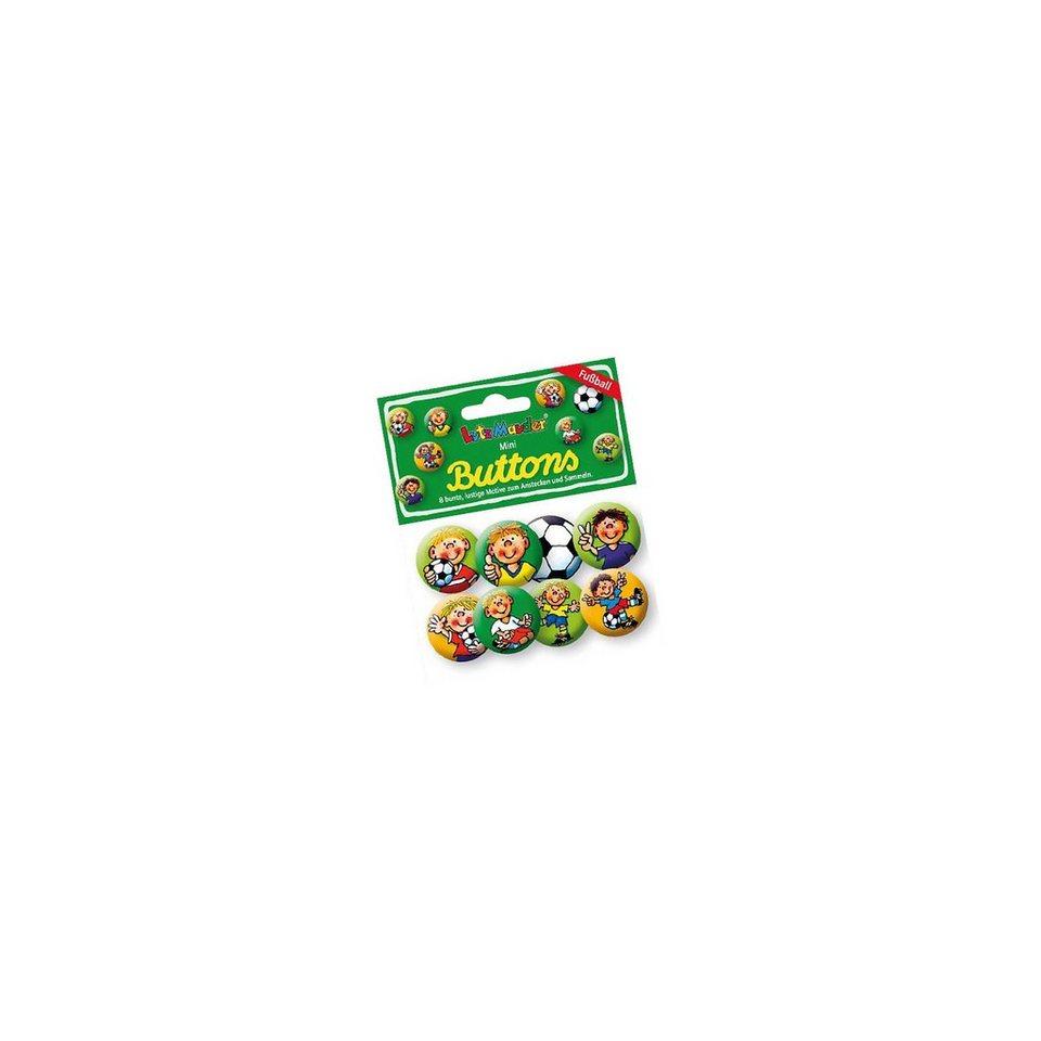 Lutz Mauder Verlag Mini-Button-Set Fußballer Fritz Flanke, 8 Stück
