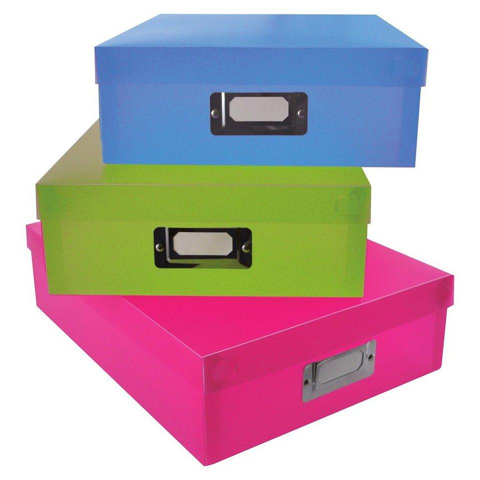 Playbox Aufbewahrungsboxen, 3 Stück in bunt