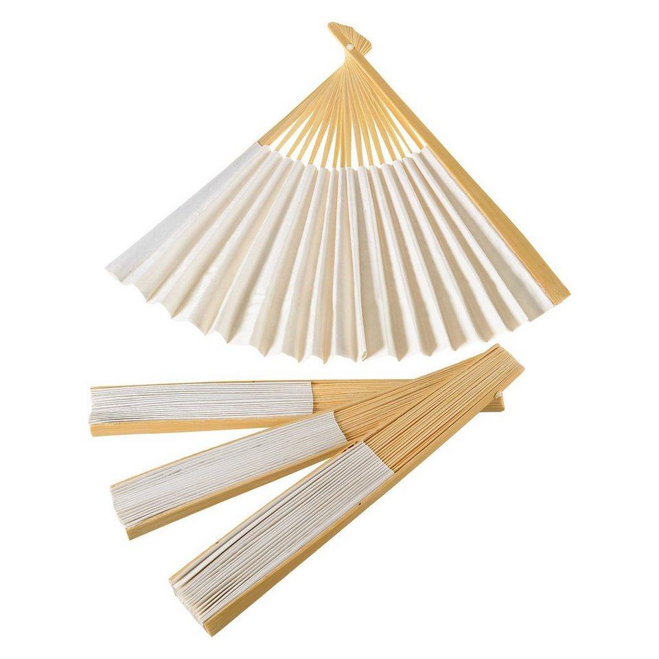 prohobb Papierfächer zum Selbstgestalten, 4 Stück