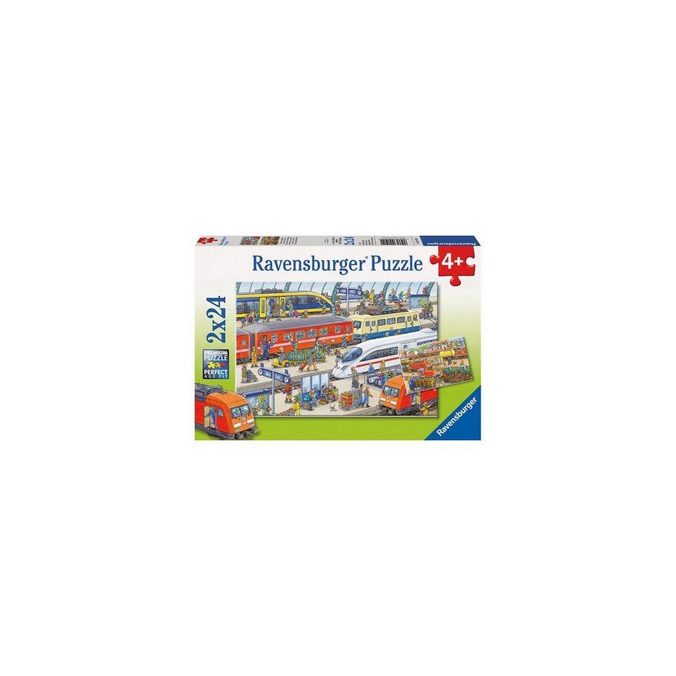 Ravensburger Trubel am Bahnhof Puzzleset 2 x 24 Teile online kaufen