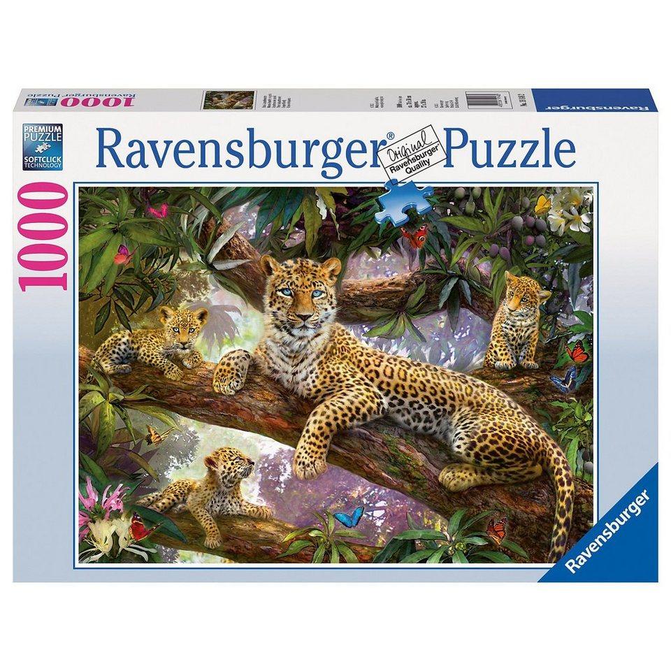 Ravensburger Puzzle 1000 Teile - Stolze Leopardenmutter