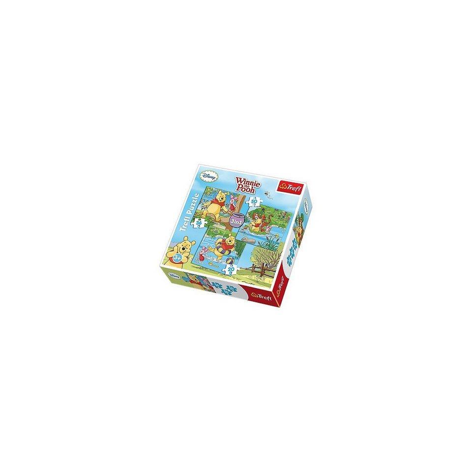 Trefl Puzzle-Set 3in1 - 20/36/50 Teile - Winnie the Pooh