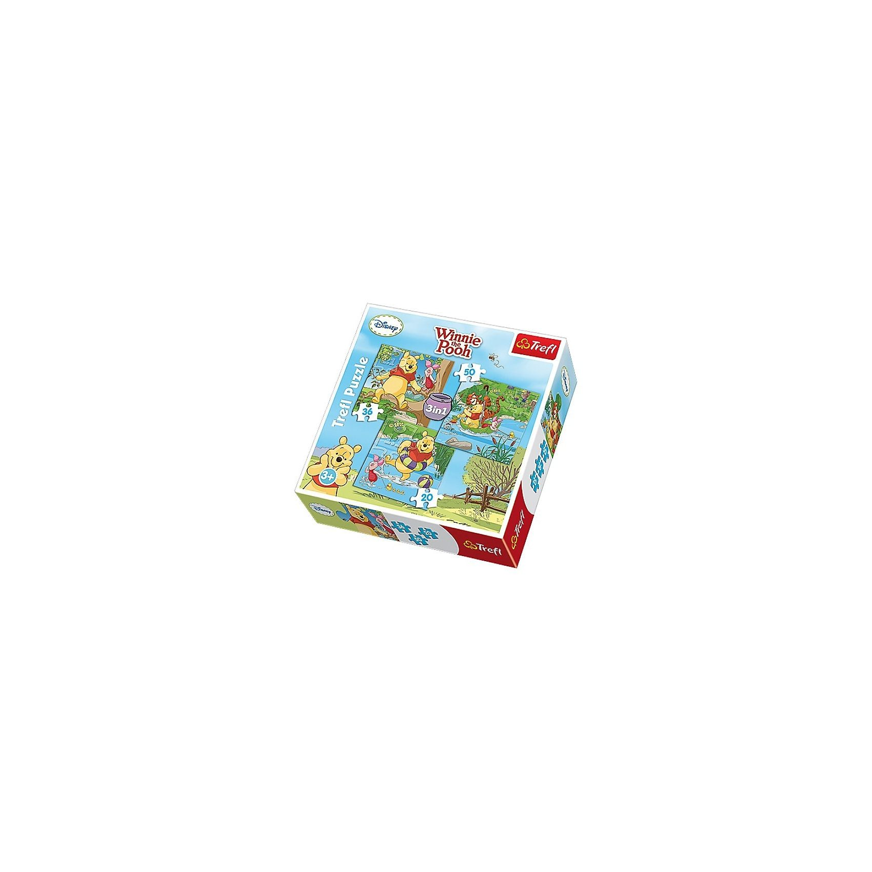 Trefl Puzzle-Set 3in1 - 20/36/50 Teile - Winnie the Pooh