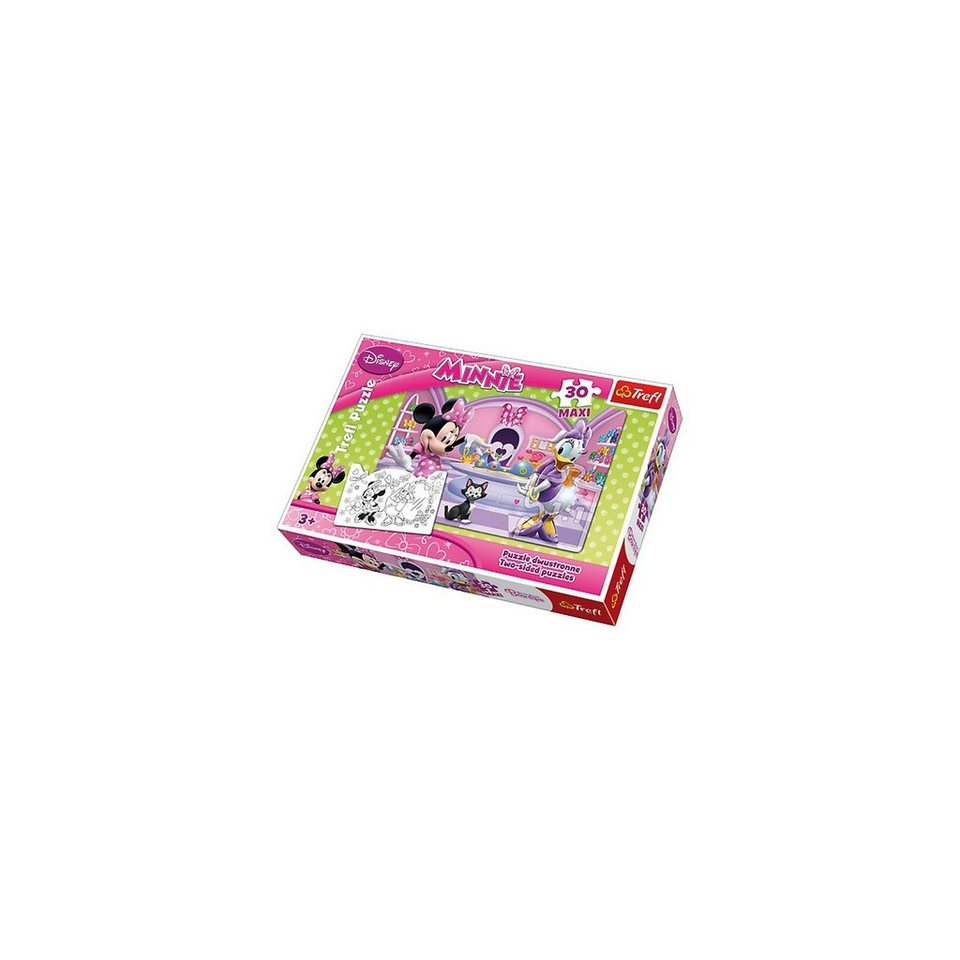 Trefl Maxipuzzle 30 Teile doppelseitig zum Ausmalen - Minnie Mouse