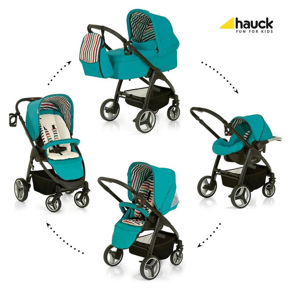 Hauck Kombi Kinderwagen Lacrosse All In One, Everglade, 2016 in türkis