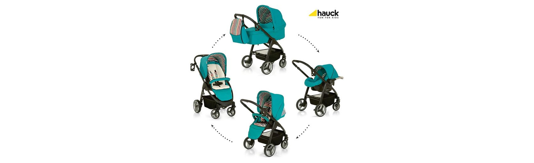 Hauck Kombi Kinderwagen Lacrosse All In One, Everglade, 2016