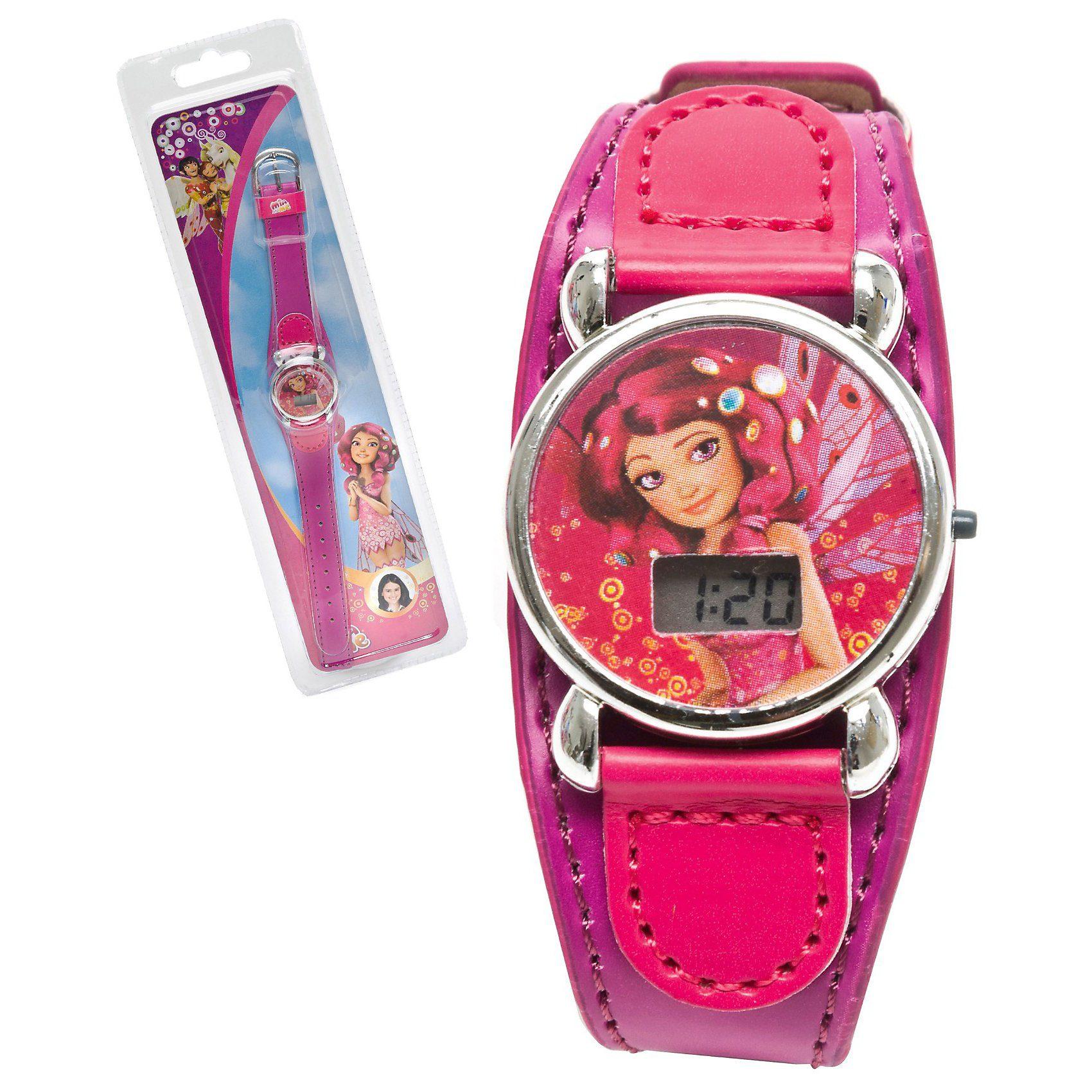 JOY TOY LCD Uhr mit Lederarmband Mia & Me