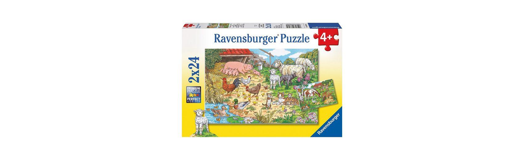 Ravensburger Tierfamilien auf dem Land 2 x 24