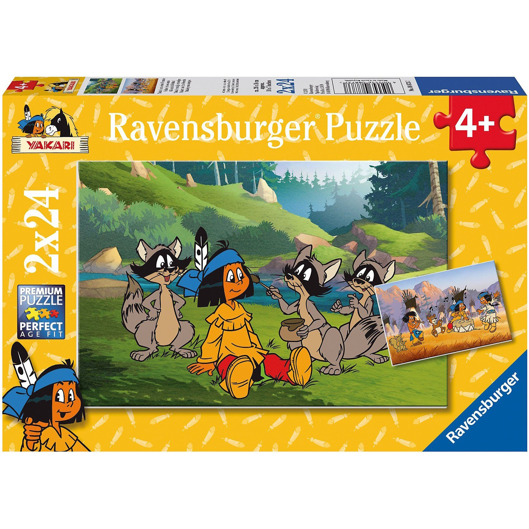Ravensburger Puzzleset Yakari und seine Freunde 2 x 24 Teile