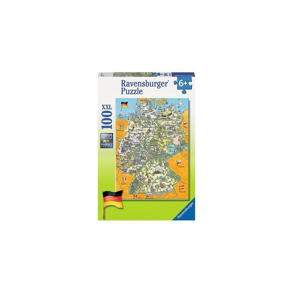 Ravensburger Puzzle Bunte Deutschlandkarte 100 Teile