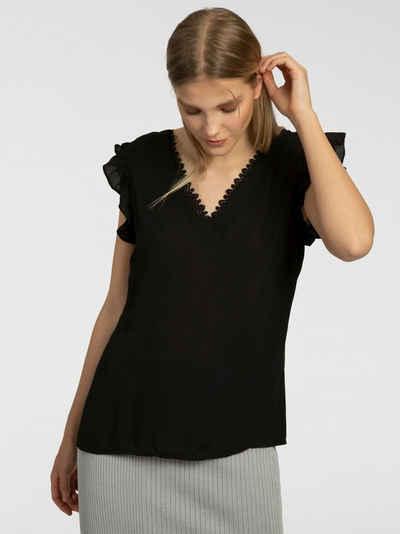 Apart Blusenshirt mit tiefem Rückenausschnitt
