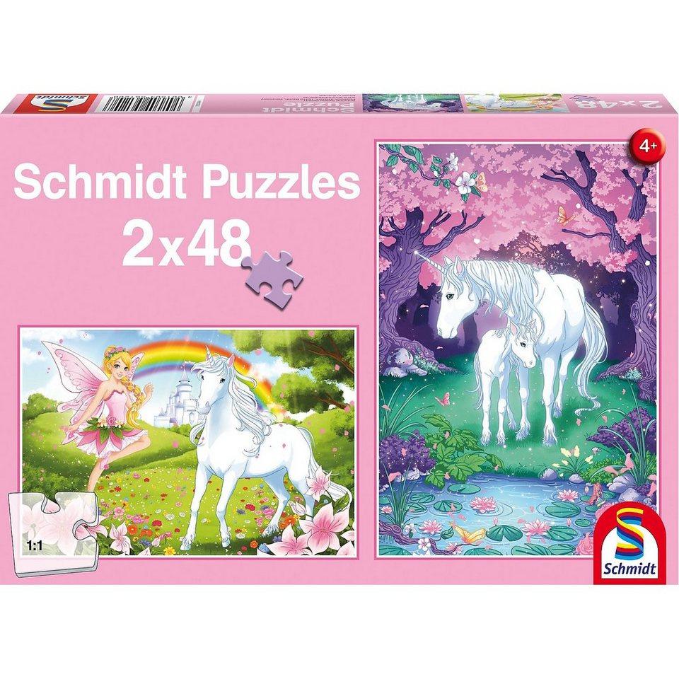 Schmidt Spiele Einhornzauber, 2 x 48 Teile
