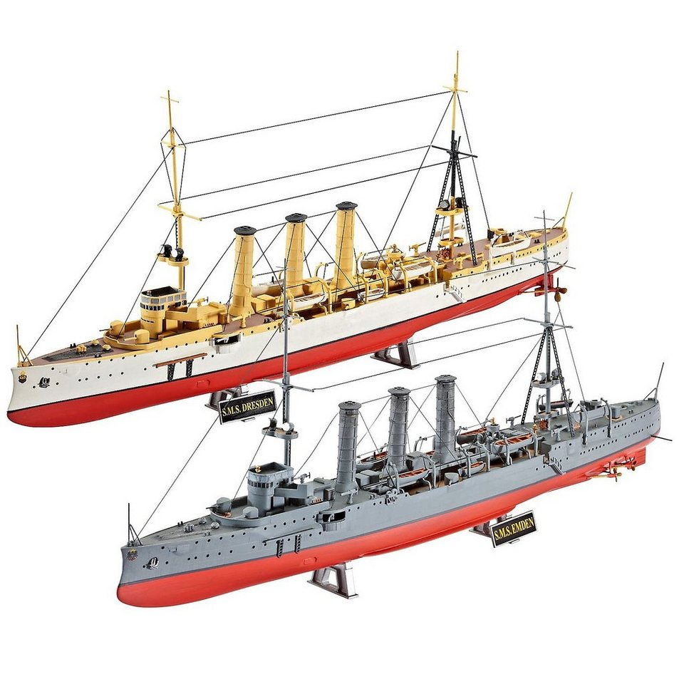 revell modellbausatz wwi cruisers sms dresden emden online kaufen otto. Black Bedroom Furniture Sets. Home Design Ideas