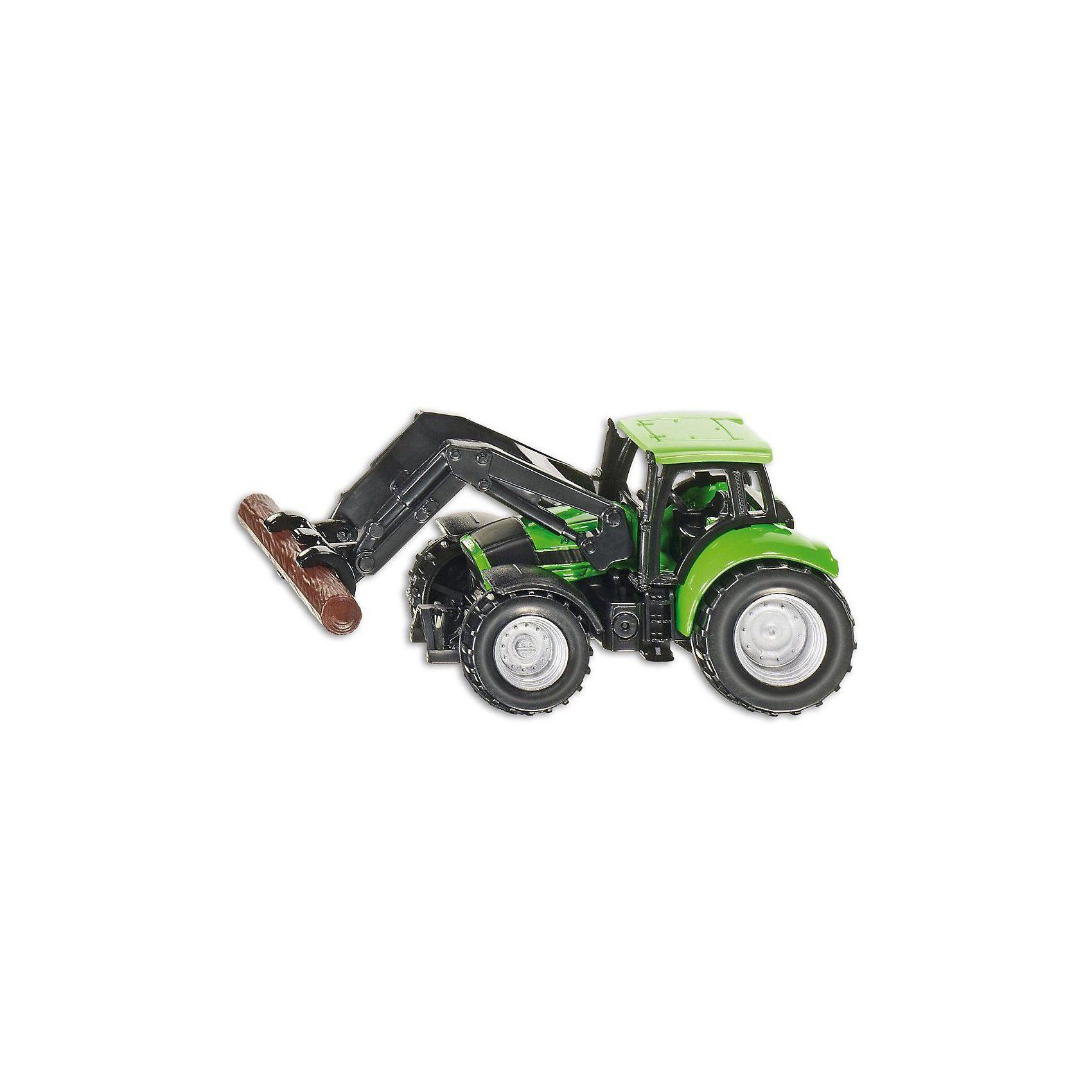 SIKU 1380 Deutz Traktor mit Baumstammgreifer