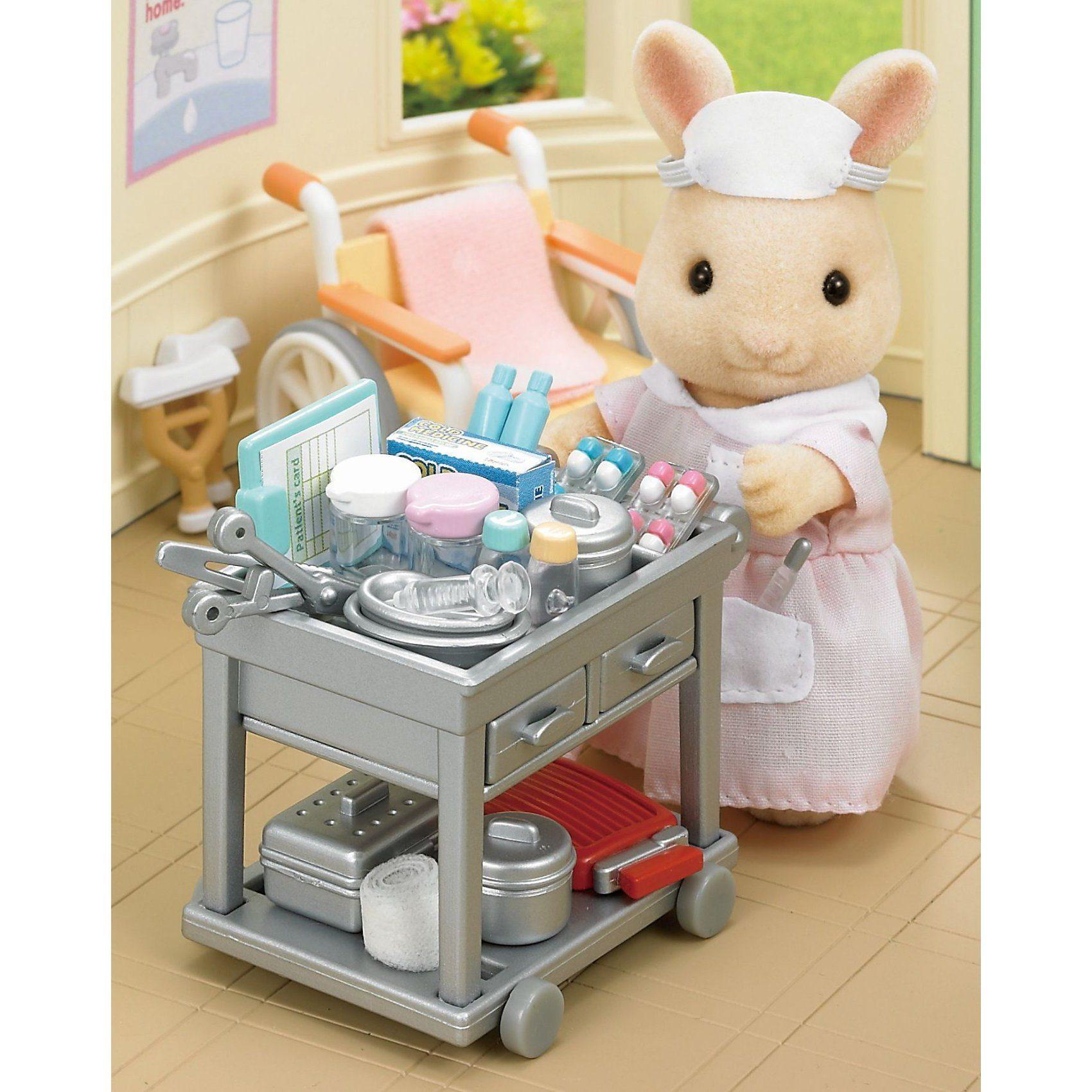 Epoch Traumwiesen Sylvanian Families Land-Krankenschwester-Set Puppenhauszubeh