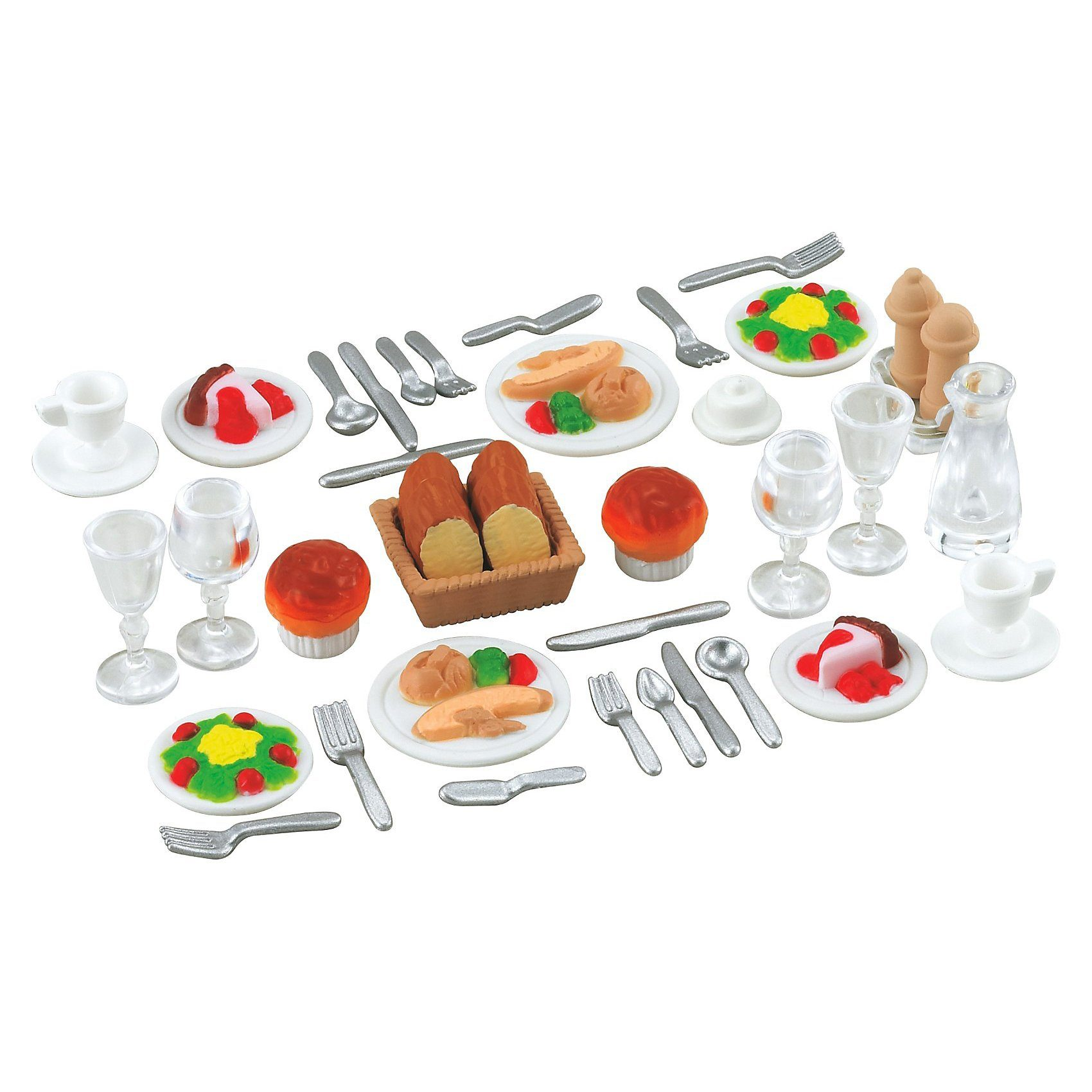 Epoch Traumwiesen Sylvanian Families Dinner for Two-Set Puppenhauszubehör