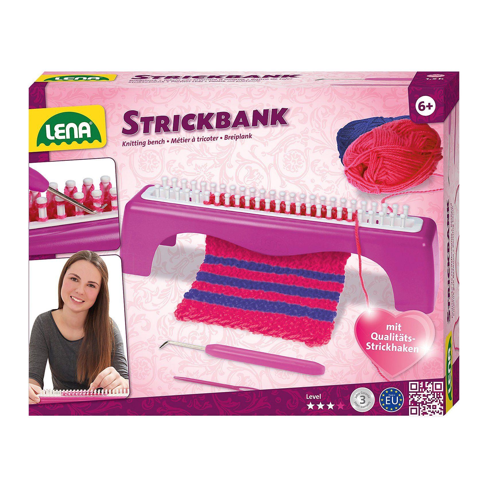 LENA Strickbank für Kinder, inkl. Zubehör