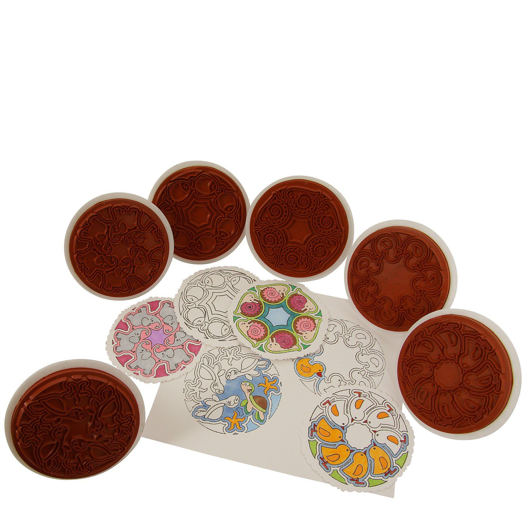 SUNNYSUE Riesenstempel Mandala, 6 Stück