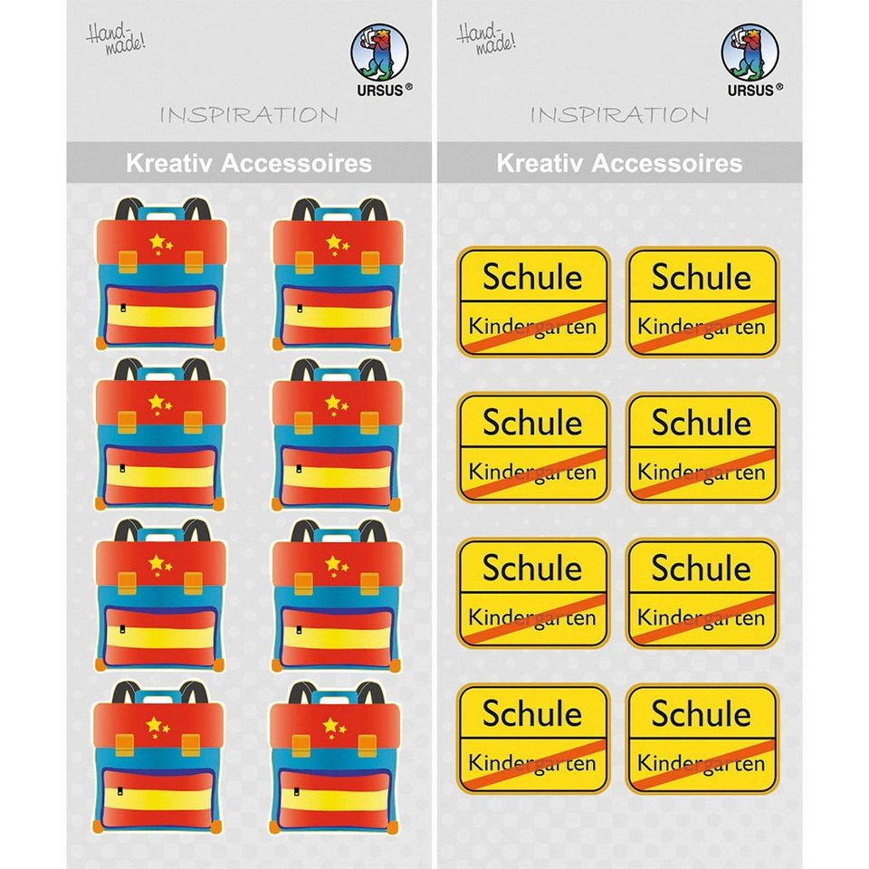 URSUS Stickerset Accessoires Schule