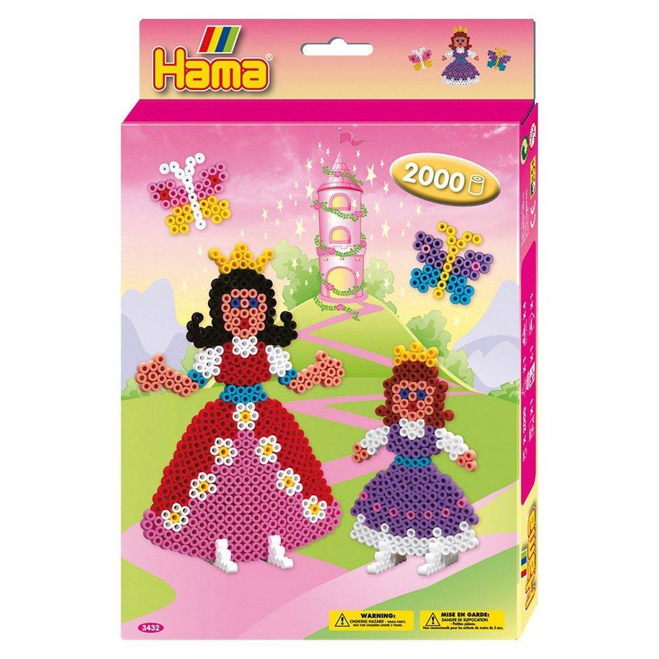 Hama Perlen HAMA 3432 Geschenkset Prinzessinnen, 2.000 midi-Perlen & Zub