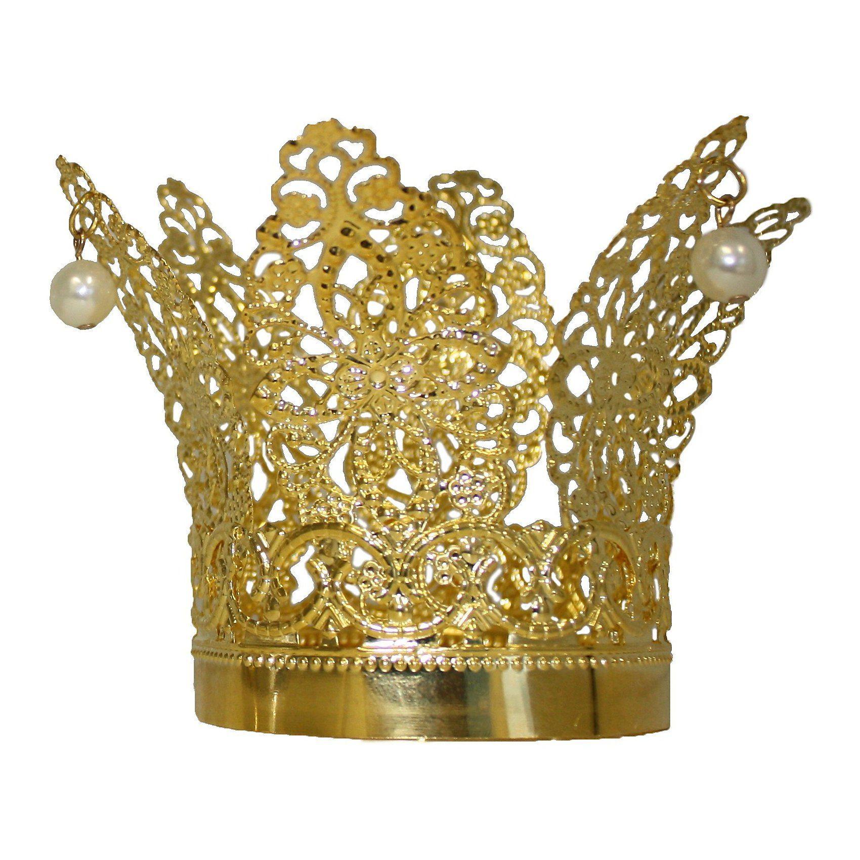 Rubie´s goldene Krone mit Perlen
