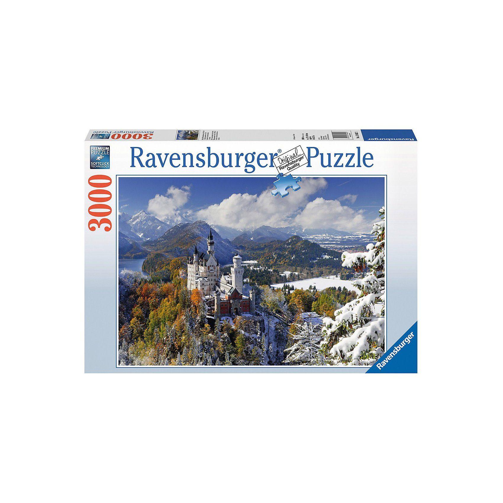 Ravensburger Schloß Neuschwanstein im Winter 3000 Teile