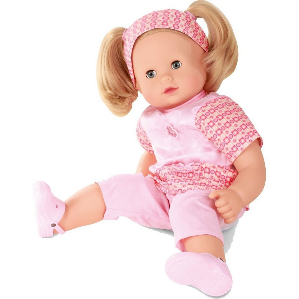 Götz Babypuppe Maxy Muffin, mit Haarbürste, blonde Haare 42cm
